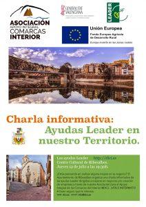 Al ayuntamiento de Ribesalbes organiza una charla informativa de las ayudas Leader el próximo 12 de julio.
